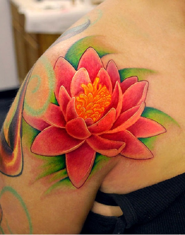 70 lotus tattoo design ideas nenuno creative a bright pink lotus flower tattoo the full and bright colors of the tattoo give mightylinksfo Gallery