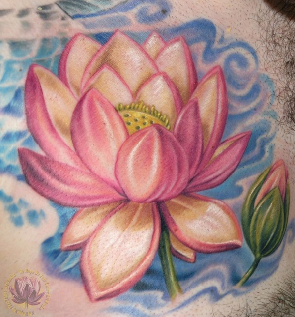 70 lotus tattoo design ideas nenuno creative elegant looking pink lotus flower tattoos both flowers are different as one is blossomed while mightylinksfo