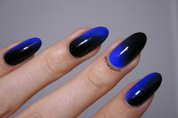 60 ombre nail art designs nenuno creative enchanting black and midnight blue ombre nail art use the shadow effect of black to prinsesfo Gallery
