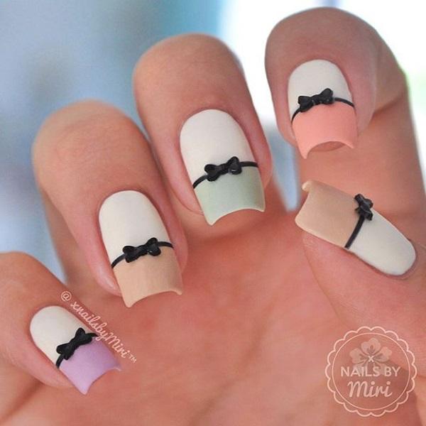 bow nail art-1