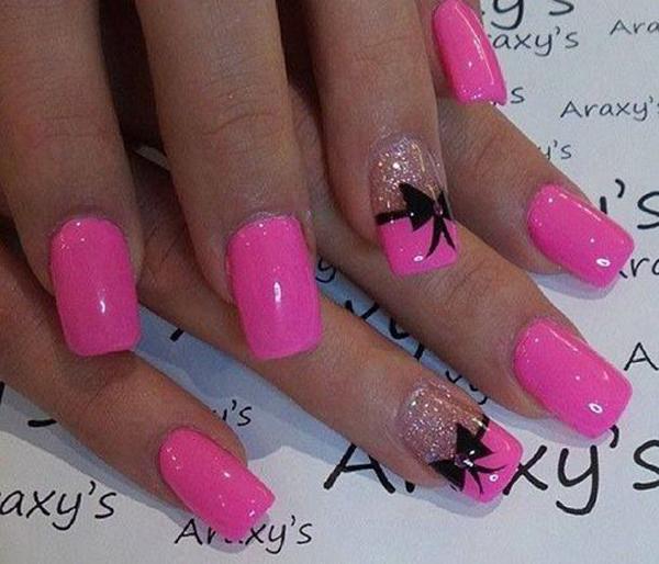 bow nail art-4