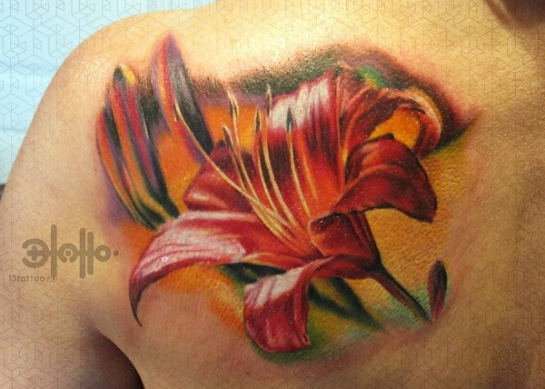 lily flowers tattoo 10