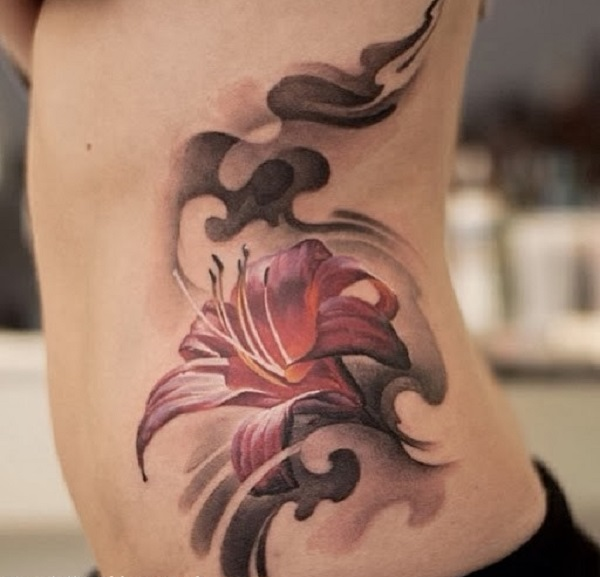 lily flowers tattoo 13