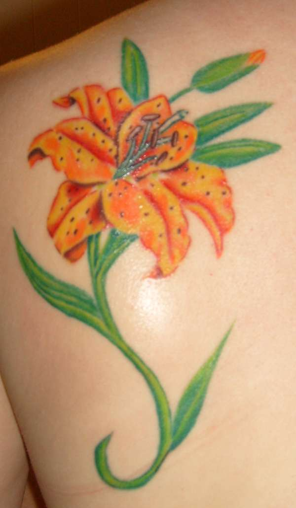 lily flowers tattoo 19