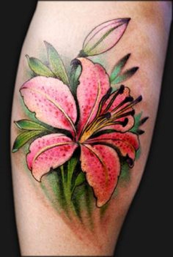 lily flowers tattoo 2