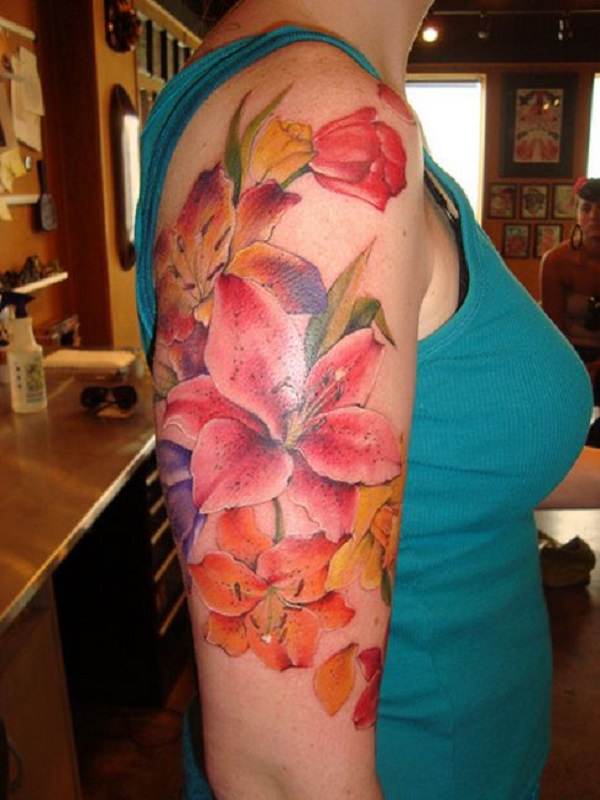 lily flowers tattoo 24
