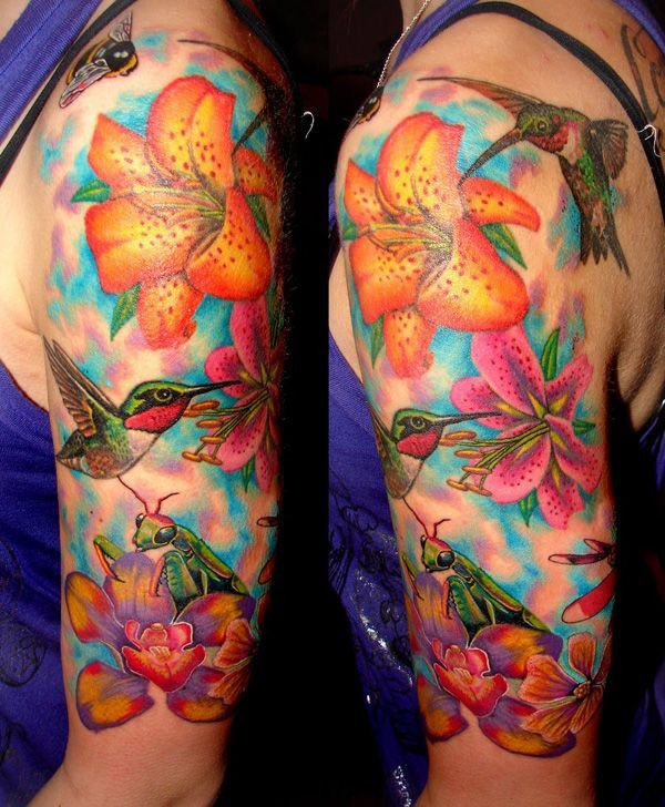 lily flowers tattoo 27