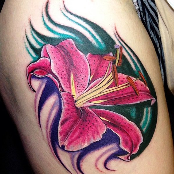 lily flowers tattoo 29