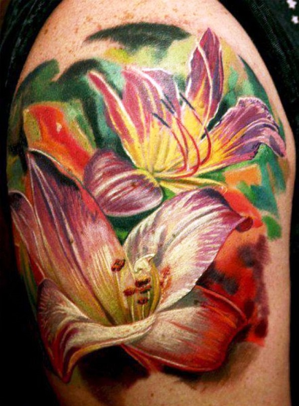 lily flowers tattoo 40