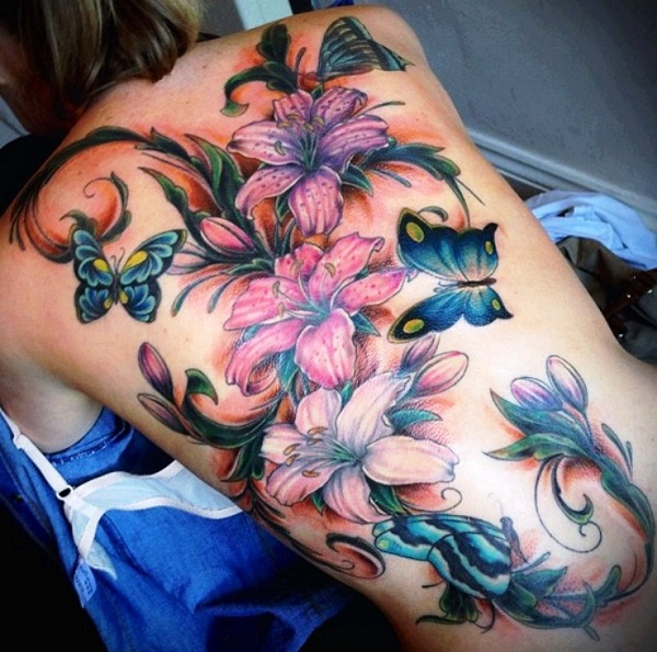 lily flowers tattoo 42