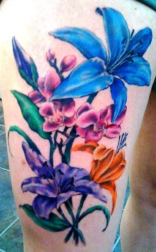 lily flowers tattoo 44
