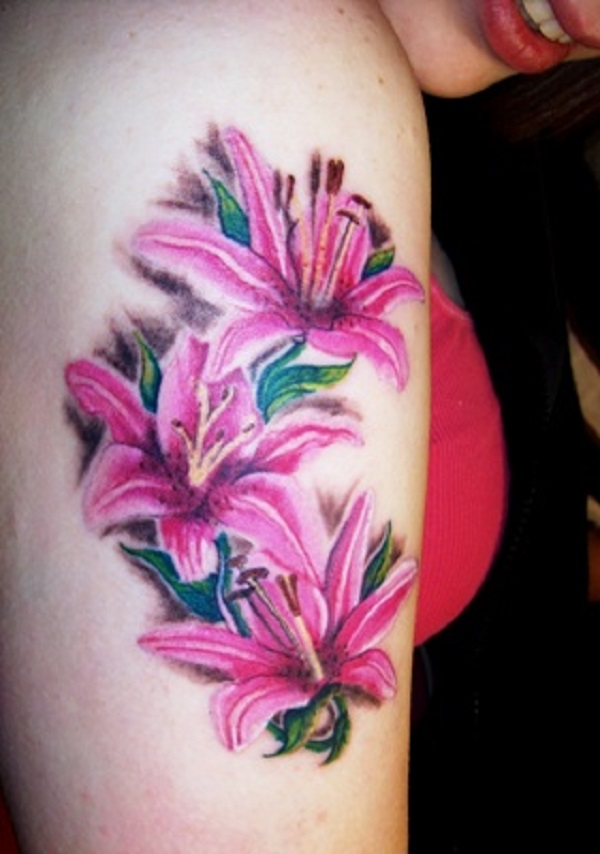 8c88ece0d lily flowers tattoo 45 - 60 Beautiful Lily Tattoo Ideas <3