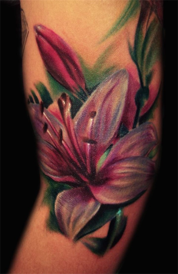 lily flowers tattoo 5