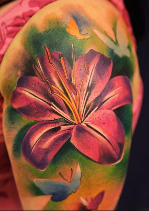 lily flowers tattoo 54