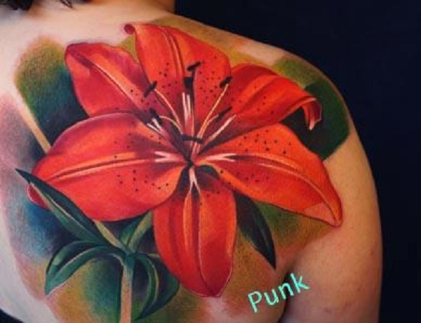 8766f2c27 lily flowers tattoo 7 - 60 Beautiful Lily Tattoo Ideas <3
