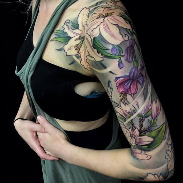 lily flowers tattoo 9