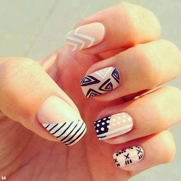 stripe nail art13