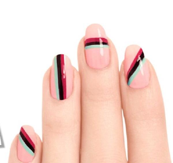 stripe nail art15