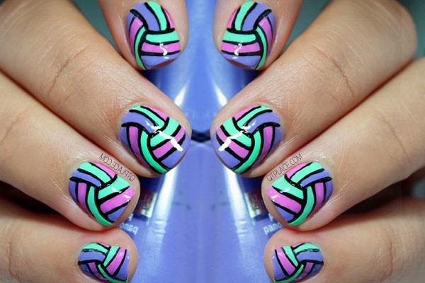 stripe nail art17