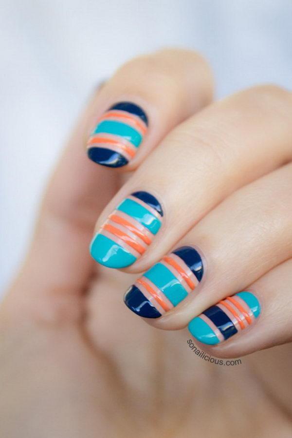 stripe nail art18