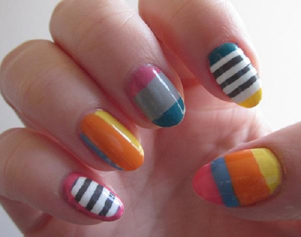 stripe nail art21