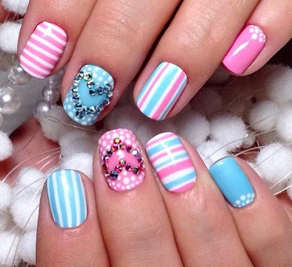 stripe nail art23