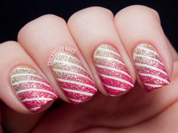 stripe nail art25