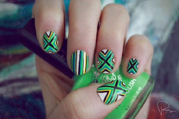 stripe nail art26