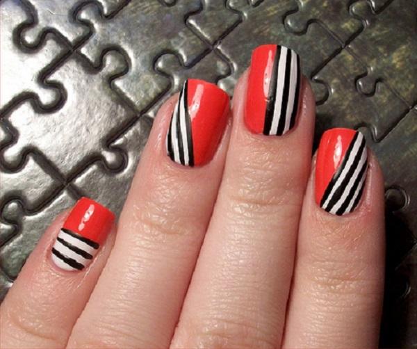 stripe nail art27