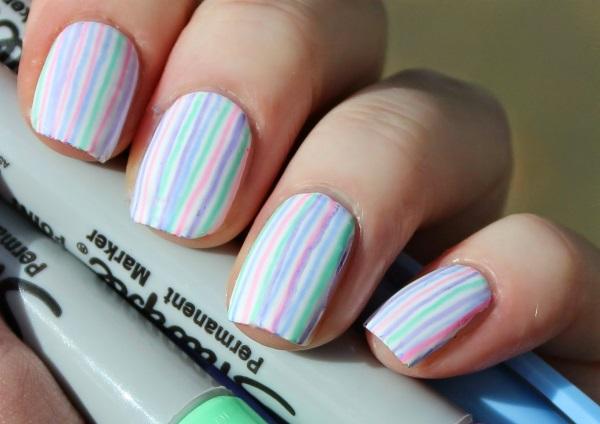 stripe nail art31