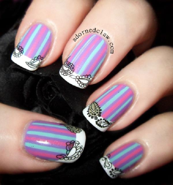 stripe nail art32