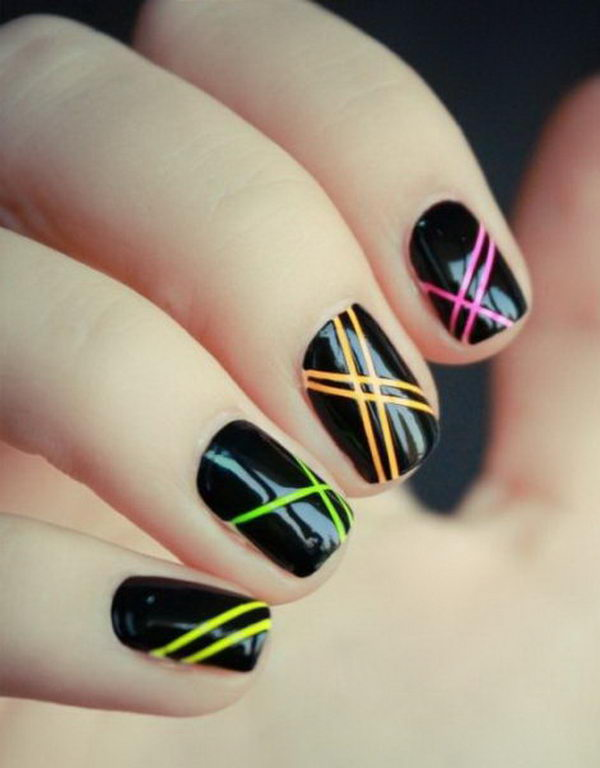 stripe nail art33