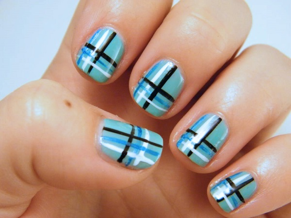 stripe nail art34