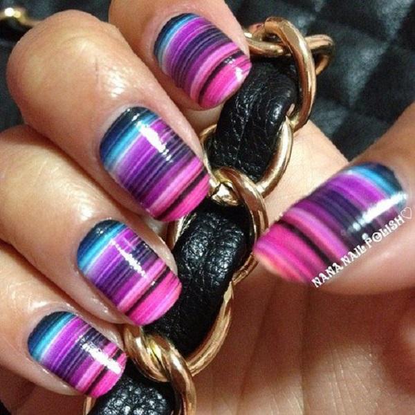 stripe nail art35