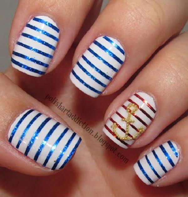 stripe nail art36