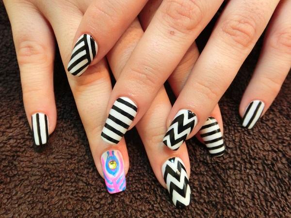stripe nail art37