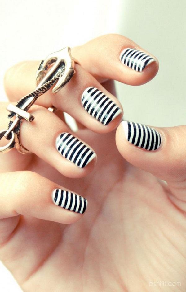 55 Stripe Nail Art Ideas - nenuno creative