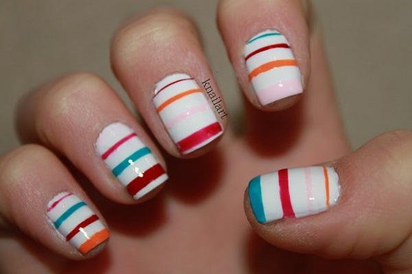 stripe nail art40