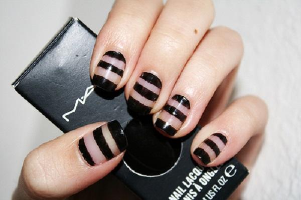 stripe nail art41