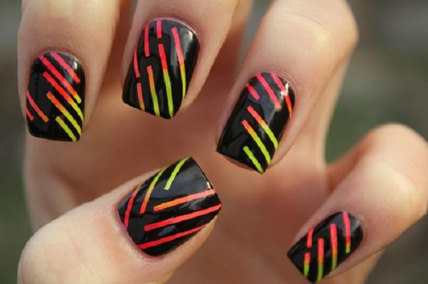 stripe nail art42
