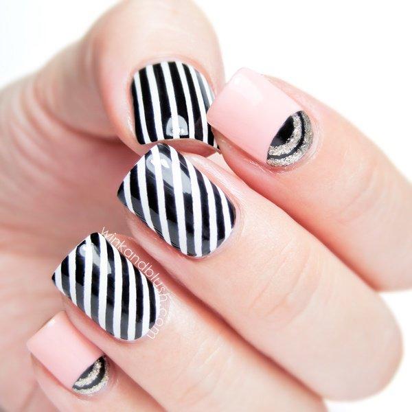 stripe nail art44