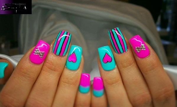 stripe nail art45