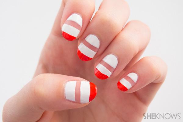 stripe nail art46