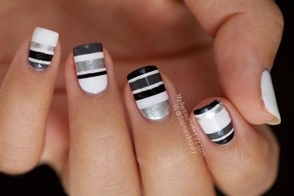 stripe nail art47