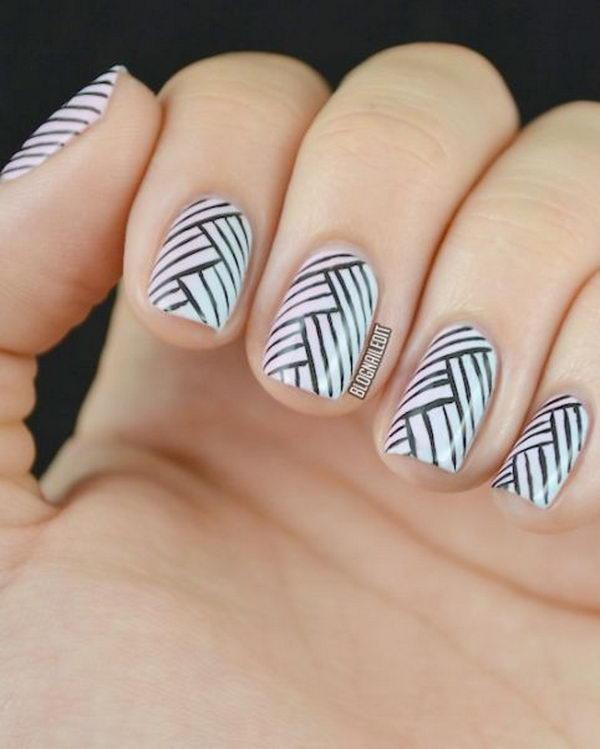 stripe nail art49