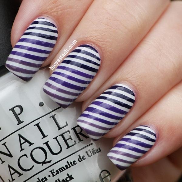 stripe nail art53
