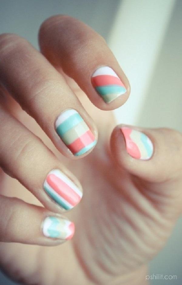 stripe nail art55