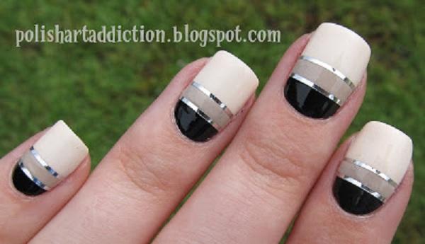 stripe nail art7