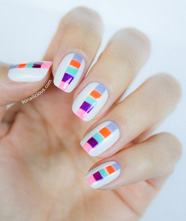 stripe nail art8