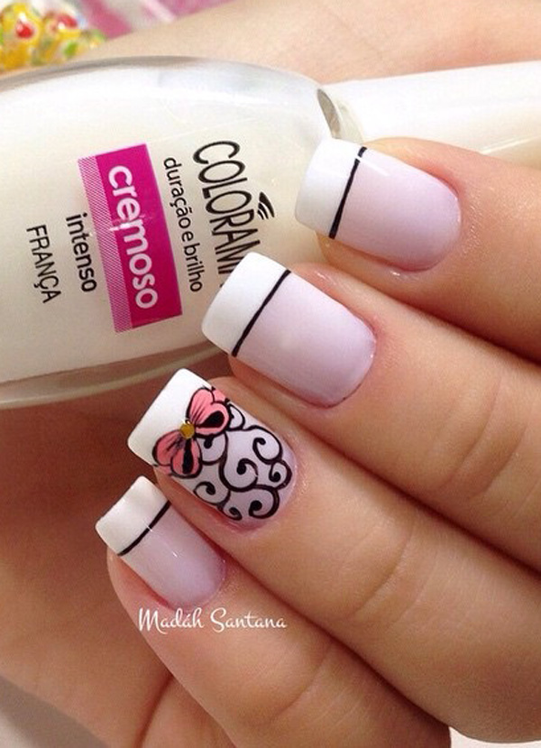 35 French Nail Art Ideas - nenuno creative